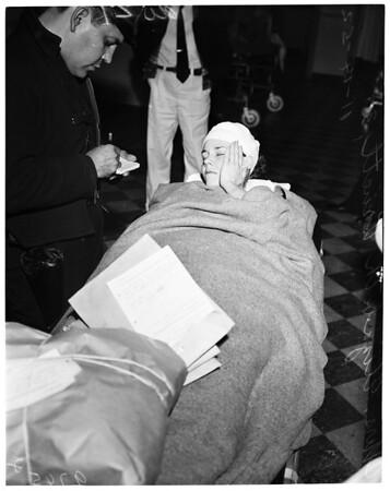 Girl says murderer assaulted her and held her prisoner, 1952