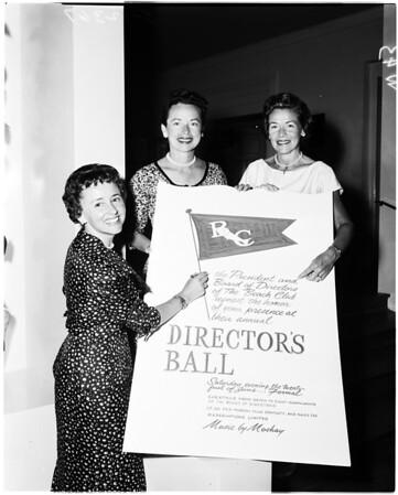 Beach Club women planning Director's ball, 1958