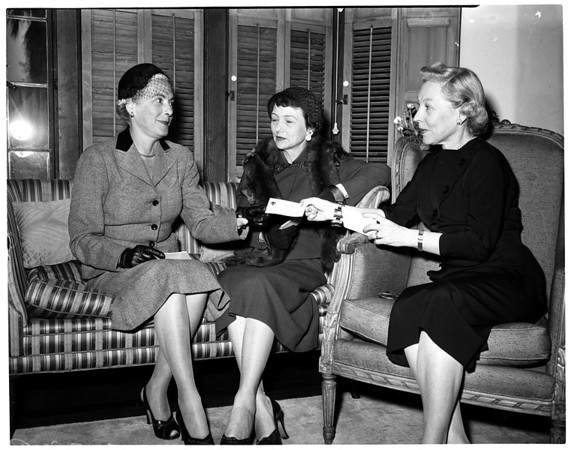 Heart fund special gift committee, 1954