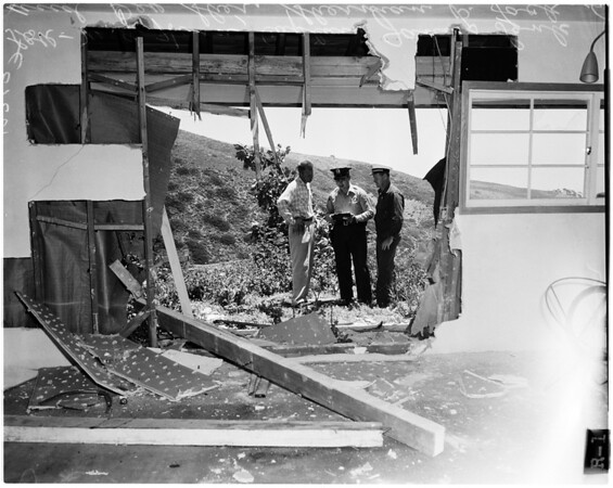 Car plunged four hundred feet, 1958
