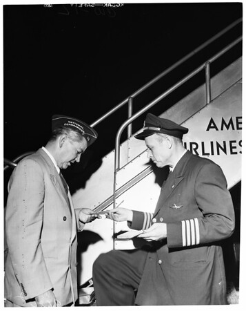 National Legion Commander signs up first member, 1952