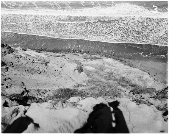 Landslide in Palos Verdes hills, 1958