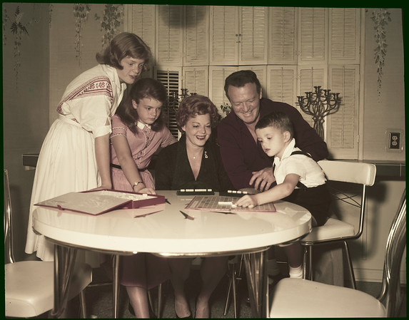 Van Heflin and family, 1958