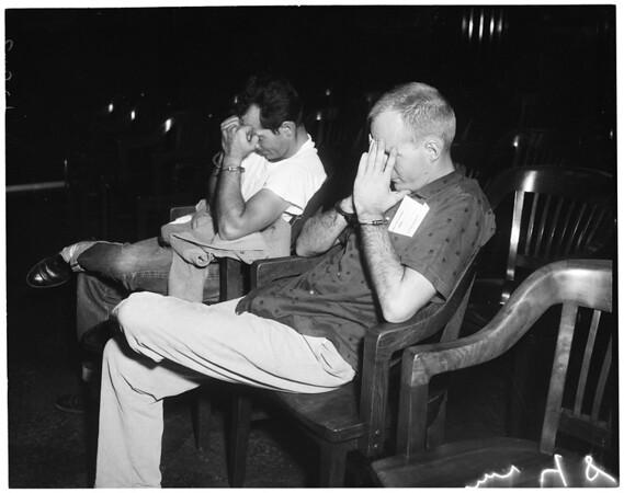 Narcotic arraignment, 1960