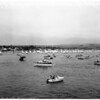 Boats -- Race -- Flight of snowbirds -- Newport, 1958