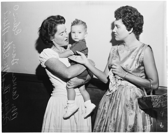 Child custody fight between two sisters, 1957