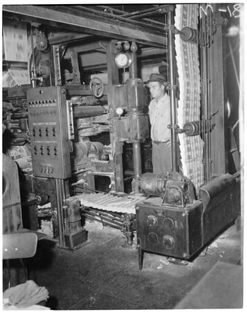 Examiner press room, 1957
