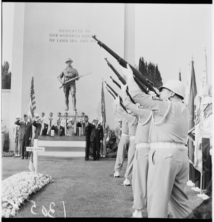 Veterans Day at Forest Lawn, 1961