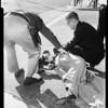 Auto vs bicycle accident, 1960