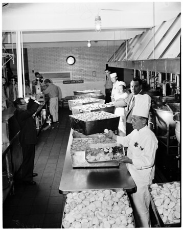 Los Angeles County Jail -- Food feature, 1956