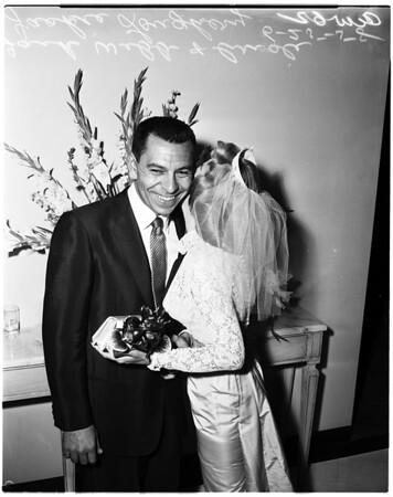 Jack Webb wedding, 1958