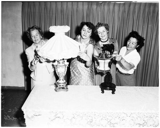 Lampshades on display at Walteria Recreation Park, 1958