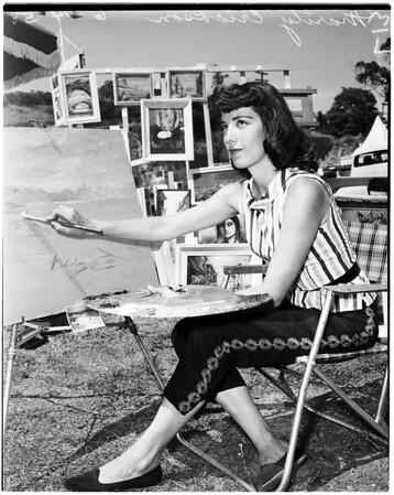 Sunset art exhibit, 1958