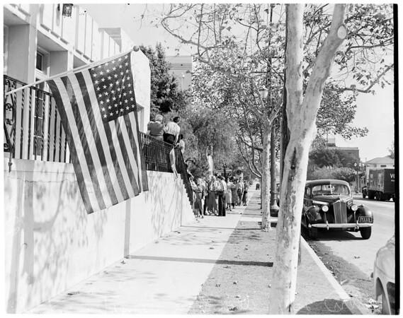 Poll line, 1952