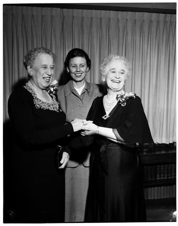 Women's Athletic Club Overseas Service League, 1954