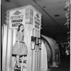 Negative of fall out shelter (civil defense) (new products show), 1957