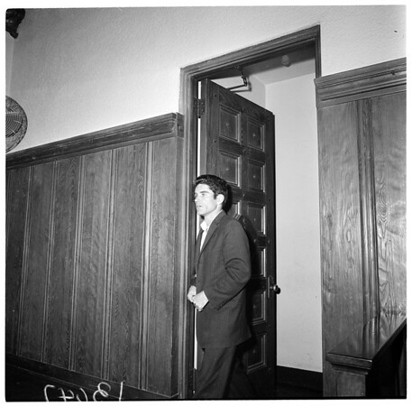 Beverly Hilton robbery suspects preliminary, 1961