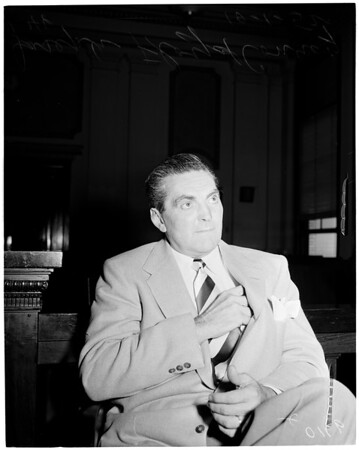 Joseph Floyd Conroy - 46 years (sentenced to life in 1937 for killing his wife -- discharged from prison in 1944 (medical reasons) but will have to return), 1952