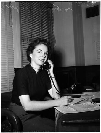 Candidate for State senator, 1953