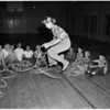 Rope spinning classes begin at Fernangeles Park in Sun Valley, 1956