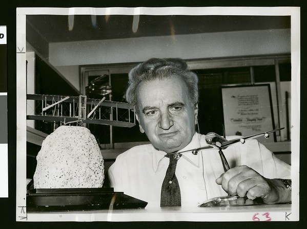 Dr. Theodore von Karman at his home in Pasadena, CA, 1961