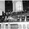 Thanksgiving service at Wilshire Christian Church, 1956