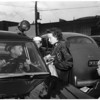 Baby locked in car, 1952