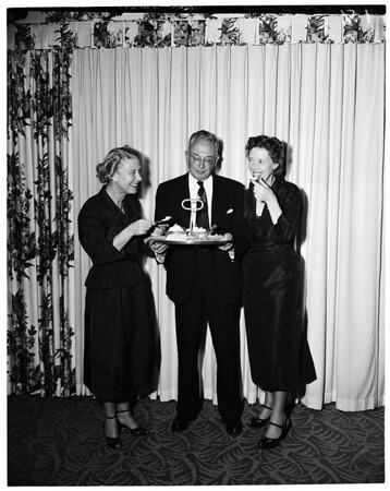 Spencer Tracy dinner, 1953