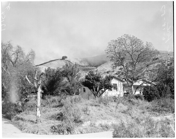 Chavez Ravine fire (brush), 1957