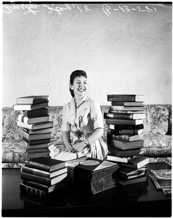 Santa Monica Chamber of Commerce girl of the year, 1958