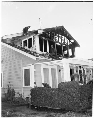 House fire (5334 Lemon Grove Avenue), 1952