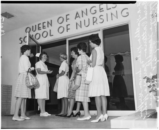 Queen of Angels School of Nursing student enrollment, 1961