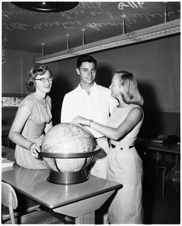 Exchange students, 1958