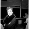 Cohen's gal at airport, 1958