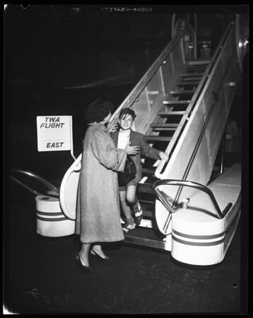 Boy arrives from Israel (Air Port), 1952