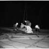 """Aviation (blimp test) """"K"""" medium blimp, Navy's lighter than air base in Santa Ana, 1952"""