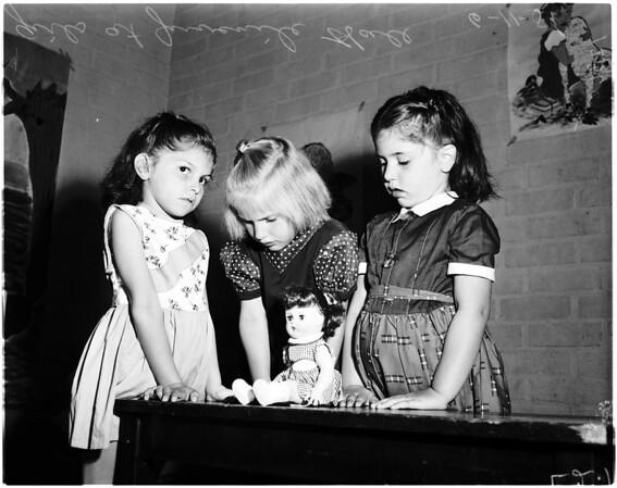 Dolls at juvenile hall, 1958