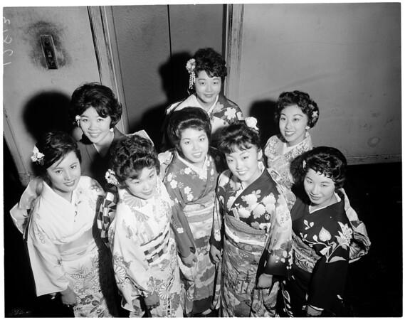 Nisei Week contestants, 1960