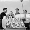 Dukes and Egyptians' boys clubs canned goods to Salvation Army, 1959