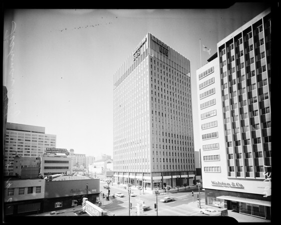 Negatives of the Tishman building - 16 stories at 615 South Flower, 1961