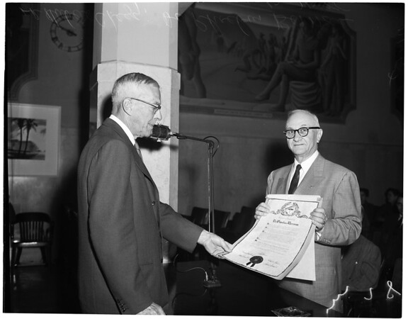 Retires as Medical Director of County General Hospital, 1955