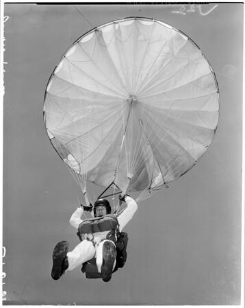 Parachute jumper at Coliseum, 1961