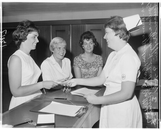 Queen of Angels School of Nursing student enrollment, 1961