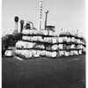 "Bales marked ""made in Soviet Union"" at the Harbor, 1952"
