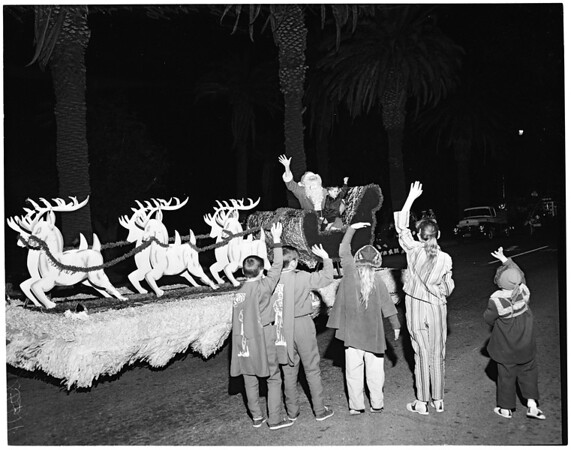 Santa Monica Christmas Parade, 1956