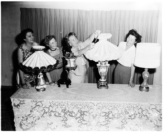 Lampshades on display at Walteria Recreation Park, 1958