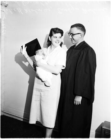 Graduating from Pasadena City College, 1958