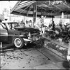 (Orance County Section) Car into florist window at West 5th Street and North Broadway in Santa Ana, 1961