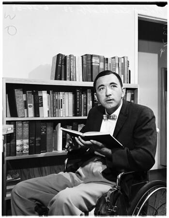 Paralyzed veterinarian letter writer, 1958