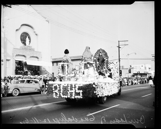 Annual procession in honor of Our Lady of Guadelupe, 1960